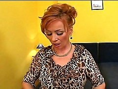 Redhead Hooker Takes An Darksome Creampie