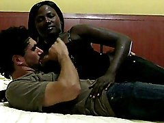 Lusty African Non-professional Goes Interracial