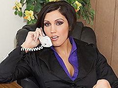 Massive Titted Boss Each Obtains Her Poses