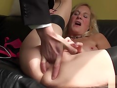 Squirting Brit Full-grown Throatfucked