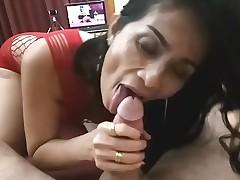 Amazing BJ 3 Web camera Photos Eastern MILF Sex cream in Mouth
