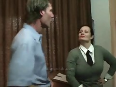 Busty melodious bitch goddess and her sub slave