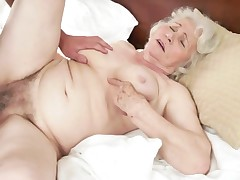 Fucking action with hairy elderly